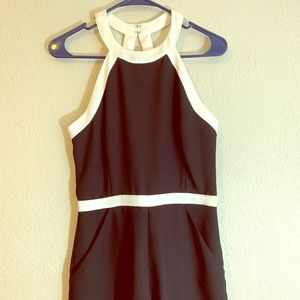 Black/white Romper Dress